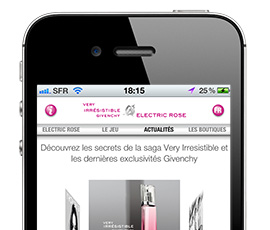 Givenchy – Application Smartphones